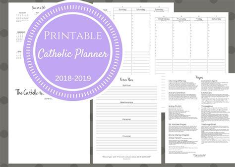 printable executive planner 2018 2019 catholic planner printable home executive
