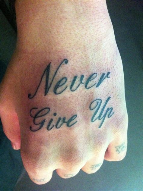 never give up tattoo designs 22 superb never give up design and ideas