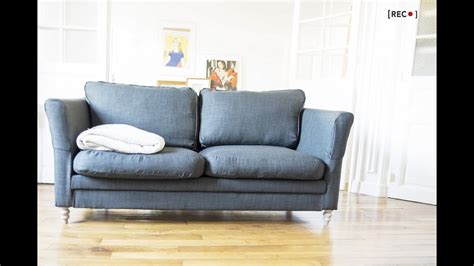 How To Reupholster A Sofa by On My Own How To Reupholster Your