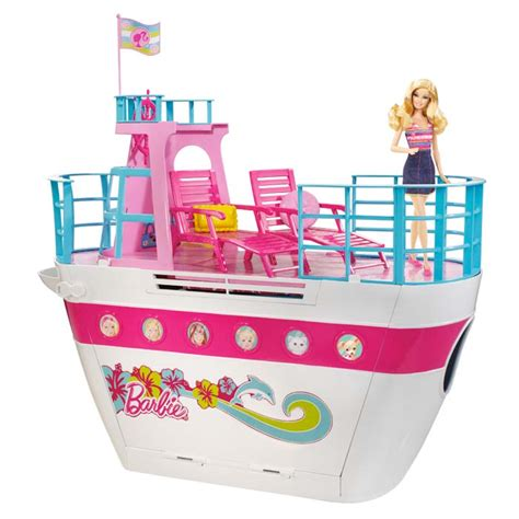 barbie boat toy barbie sisters cruise ship toys games