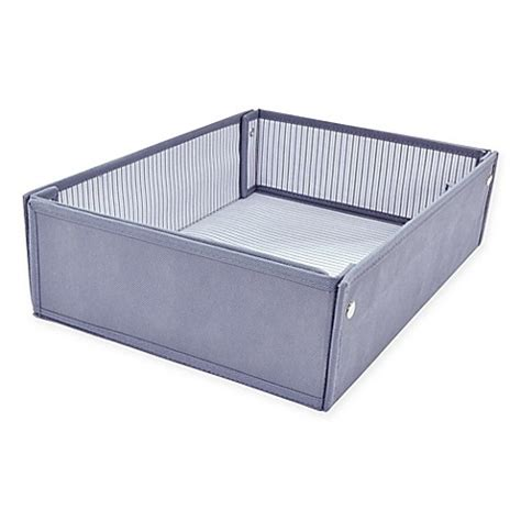 bed bath and beyond dresser drawer organizer real simple 174 expandable drawer organizer in grey bed