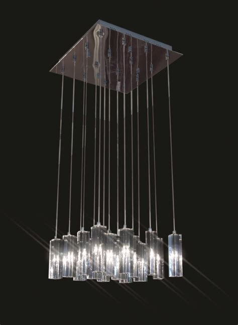 Hanging Chandelier L by K28l Shiny Nickel Chandelier 16 Crystals
