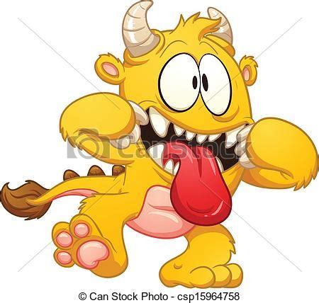 dessin anim 233 jaune monstre tout agrafe