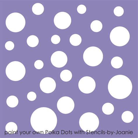 polka dot template stencil polka dot wall craft pattern template cottage