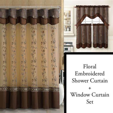 brown floral shower curtain 1000 ideas about brown shower curtains on pinterest