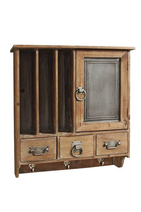 Wandschrank Holz by Wandschrank Regal Milton Holz Braun Mit 3 Wandhaken Im