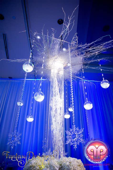 winter quinceanera decorations vip quince in miami florida winter theme stage