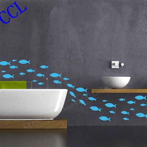 fish wall decor for bathroom free shipping 35 fish lot fish vinyl wall decal bathroom