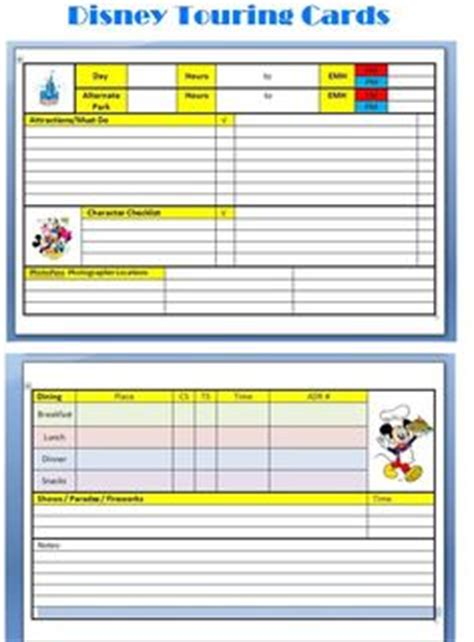 disney world printable daily planner disney planning printables free lovely commotion