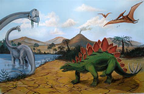 dinosaurs murals walls dinosaur mural by kchan27 on deviantart