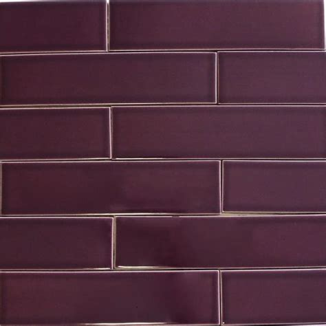 Colored Subway Tile Kiln Ceramic 2x8 Plum Purple Ceramic Tile Entryway Purple Colors And Tile