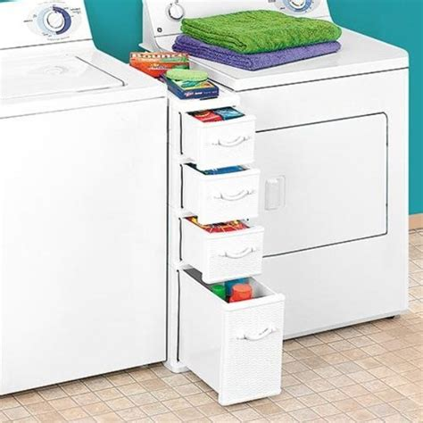Laundry Room Accessories Storage Clever Laundry Accessories Organizer Fits Between Washer Dryer Home Design Garden