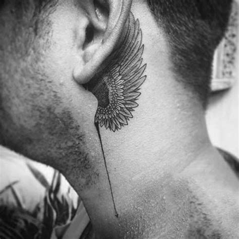behind the ear tattoos for men 25 best ideas about wing on wing