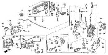 2000 Honda Crv Parts Honda Store 2000 Crv Front Door Locks Parts