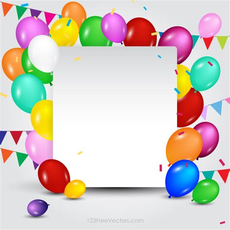 happy birthday card template free vector