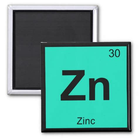 zn zinc chemistry periodic table symbol element