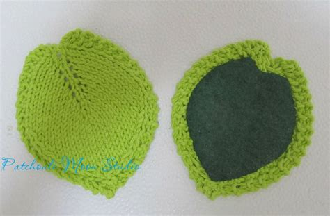 knit coaster pattern patchouli moon studio knitted leaf coasters