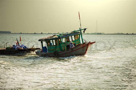model boats hanoi boat in halong stock photo colourbox