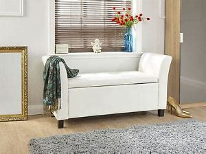 white window seat storage bench verona window seat ottoman large faux leather footstool