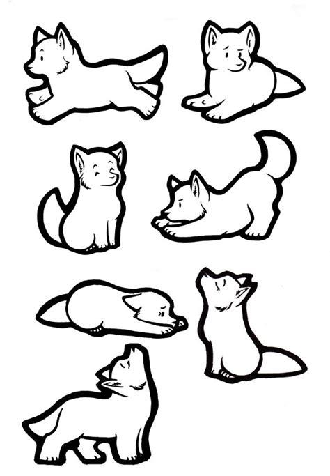 Sticker Wolves Lineart By Akireru On Deviantart Free Line Drawings Of Animals
