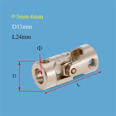 5mm X 6mm Metal Universal U Joint Steering Coupling Connector Am16 5pcs stainless steel 5 to 6mm metal universal joint cardan couplings for rc car and boat