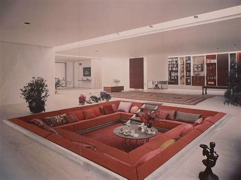 1960s interior design 1960 s conversation pit 70 s 60 s pinterest eero saarinen house and living rooms