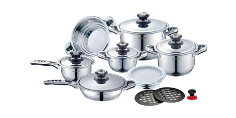 casa royale cookware royalty line rl 16b cookware set with inox lid 16 pcs