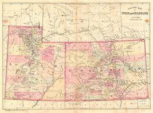 utah colorado map county map of utah and colorado geographicus