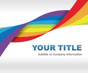 Free Rainbow Dna Powerpoint Template Free Powerpoint Templates Slidehunter Com Powerpoint Rainbow Template
