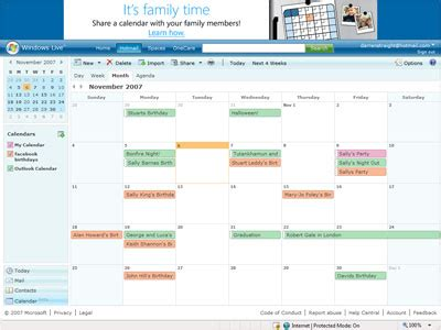windows live calendar beta up and running