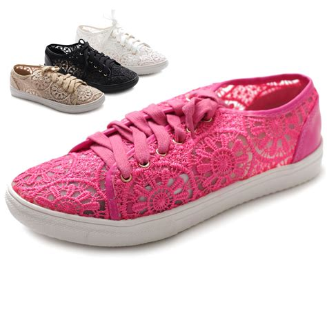 ollio womens ballet shoes lace up sneaker flats ebay