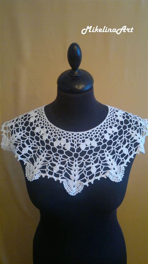 pattern for snow white collar handmade crochet collar neck accessory snow white 100