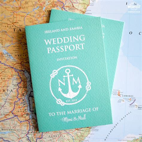 Passport Wedding Invitations Wedfest Passport Wedding Invitation Template