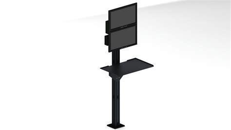 tripod floor l with shelves floor mounted monitor stand gurus floor