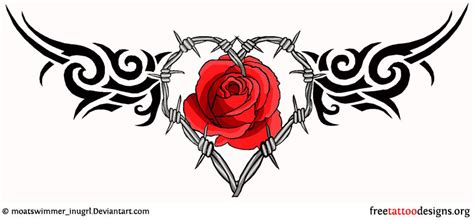 barbed wire and rose tattoo designs barbed wire images designs