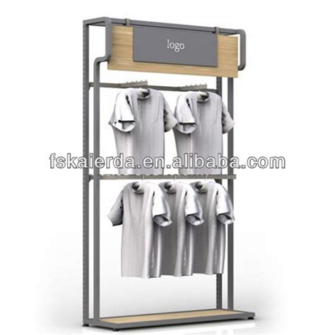 retail metal portable t shirt floor display stand view