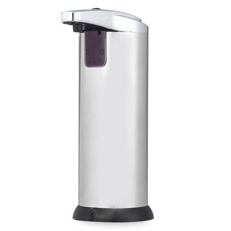 stainless steel bathroom soap dispenser 280ml new stainless steel ir sensor touchless automatic liquid soap dispenser for