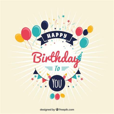 imagenes de cumpleaños vintage fondo vintage de cumplea 241 os descargar vectores gratis