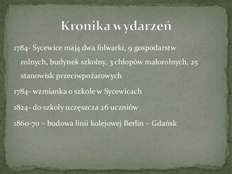 Jas Koas Szko蛯a Sycewice Wczoraj I Dzi蝗