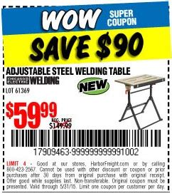 table coupons 5 harbor freight tools coupon database free coupons 25
