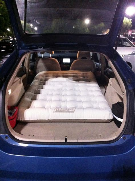 how to sleep in your car comfortably inflatable car bed for a comfortable sleep on the road