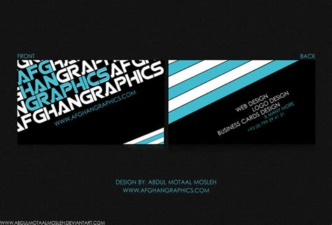 graphics visiting card design afghan graphics business card by abdulmotaalmosleh on