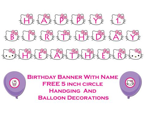hello birthday banner template free items similar to hello happy birthday banner print