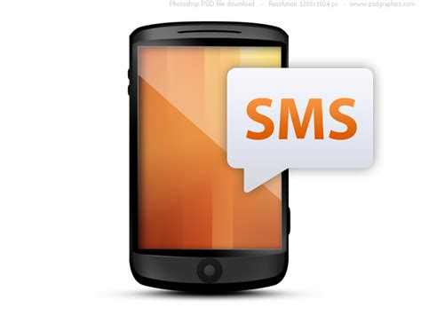 mobile sms cellphone with text message psd psdgraphics