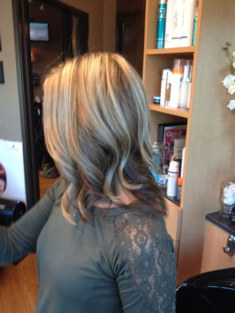 images of vlonde highlights with dark underneath blonde highlights and dark brown underneath hair