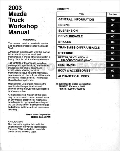 free auto repair manuals 2004 mazda b series electronic valve timing 2000 mazda b series plus workshop manual free downloads service manual pdf 2002 mazda b