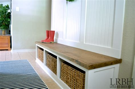 Red Entryway Bench by Diy Entryway Mudroom Reveal