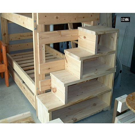 Unfinished Bunk Bed Solid Wood Custom Made Stairs For Size Bunk Or Loft Bed Usmfs Solid Wood And Lofts