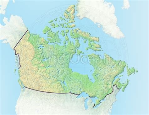 100 Canada Map Coloured Explorer - canada shaded relief map aridocean