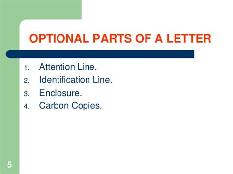 Optional Parts Of A Business Letter Attention Line notes how to write business letters